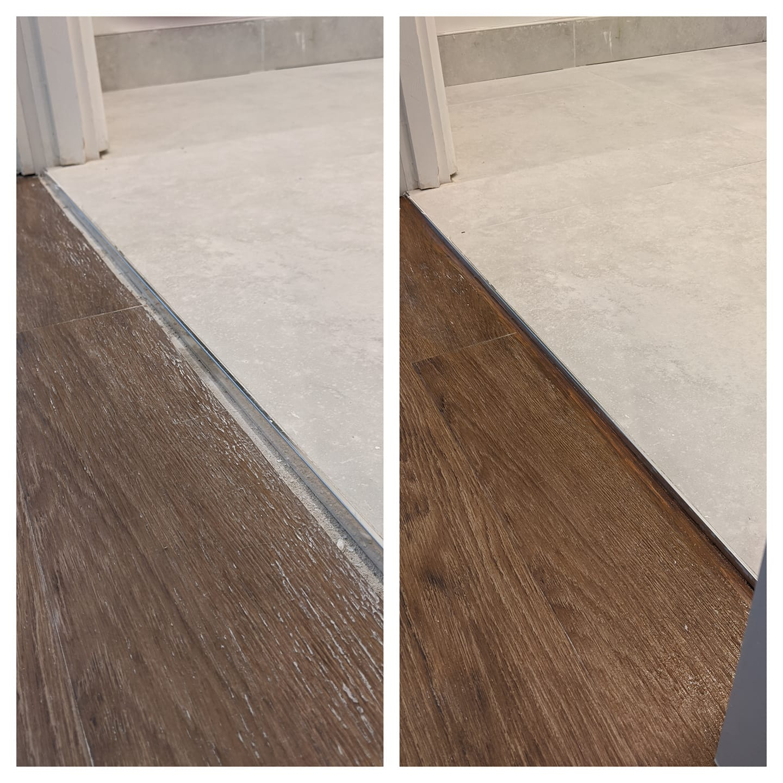 Example of repair laminate flooring